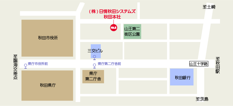 日情秋田システムズ簡易マップ